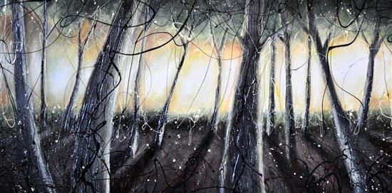 Orange Art Gallery - Julie Berthelot- Summer Morning; Purchase Online. Art. Urban Nature. Forest. Mystical Painting