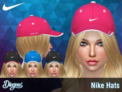 The Sims 4 Mody: Czapki damskie NIKE od Di3g0w