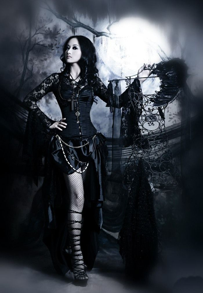 Custom Vampire Costume For Halloween Gothic Corset Dress With Long Sleeves Lace Shirt Outfit