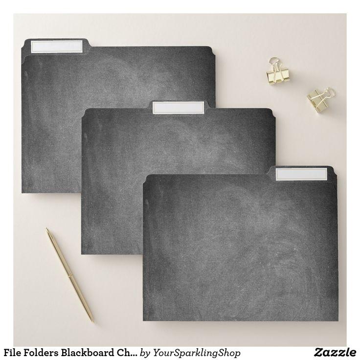 File Folders Blackboard Chalkboard Look