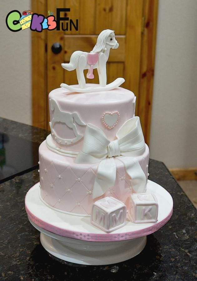Rocking Horse First Birthday - http://cakesdecor.com/cakes/285202-rocking-horse-first-birthday