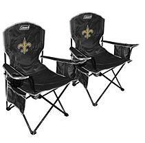 NFL New Orleans Saints Cooler Quad Chair 2 pack