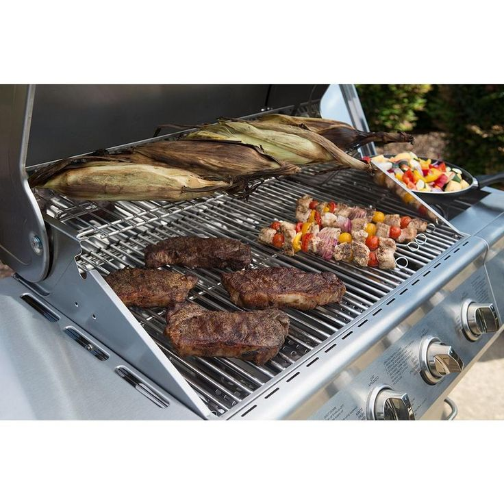 Nexgrill 4-Burner Propane Gas Grill in Stainless Steel with Side Burner-720-0830H - The Home Depot
