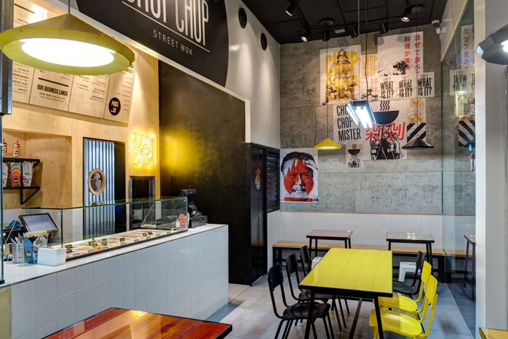 Chop Chop fast food Asian restaurant by Studio Praktik, Tel Aviv Israel hotels and restaurants branding