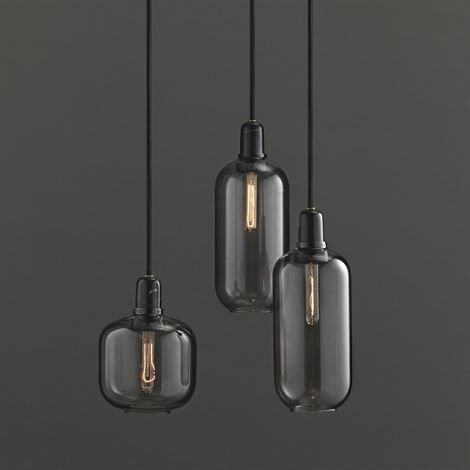 Amp lamp large-grey-black