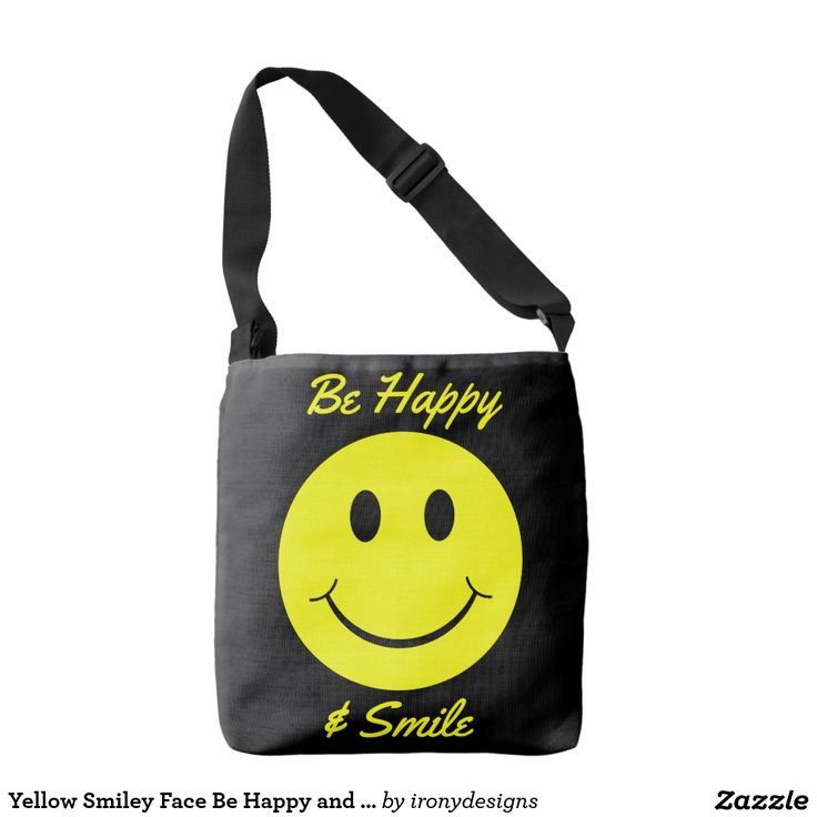 "Yellow Smiley Face Be Happy and Smile Tote Bags. Cute yellow smiley face. Encourage someone with this big happy face with a huge smile with the slogan: ""Be Happy and Smile"". The smiley face can be moved, resized, or deleted. Customize it and have fun!"