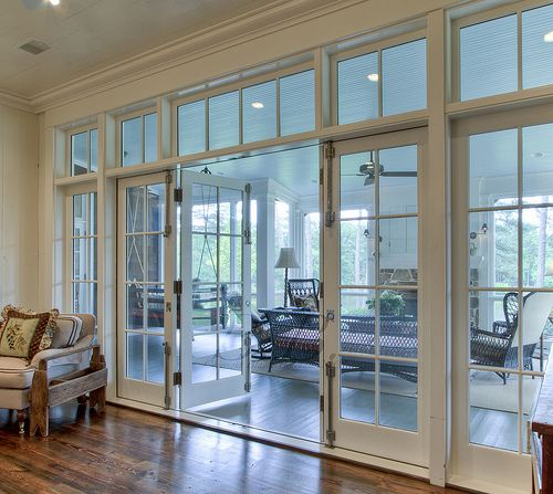 Glass doors like this could give the space some separation (plus ability to accurately control heat/cold in the dance room) and privacy, but a sense of openness and let the only natural light radiate into the larger space.