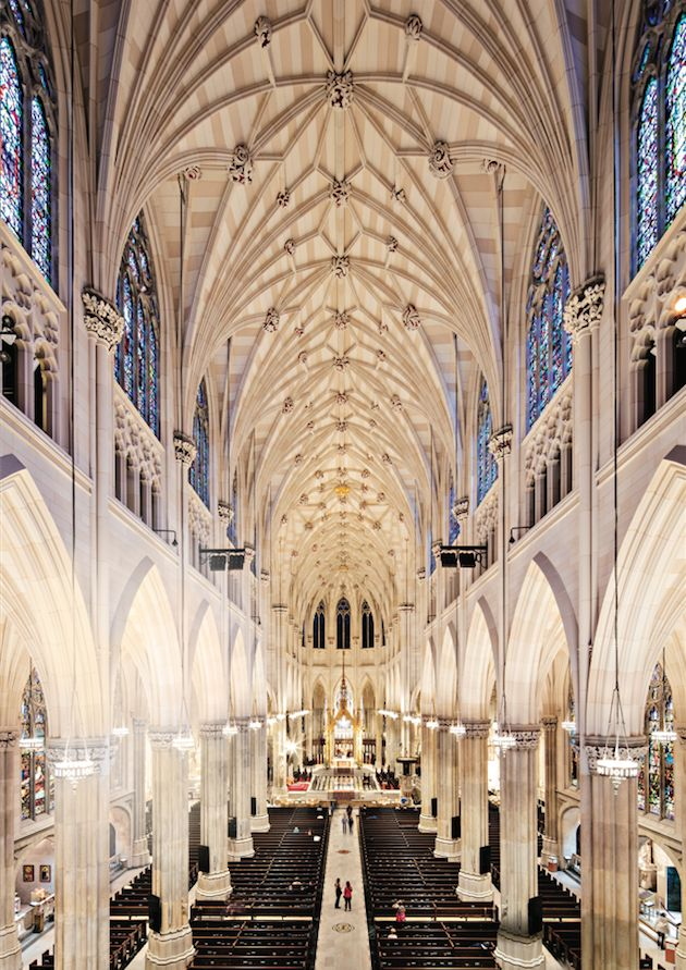 Completed just in time for Pope Francis's visit last September, the $177 million restoration of St. Patrick's Cathedral in midtown was the landmark's first major overhaul in 70 years. New York architecture firm Murphy Burnham & Buttrick oversaw the three-year project, which touched nearly every part of the Gothic Revival masterpiece, designed by James Renwick Jr. and finished in 1879. Notably, 3,600 stained-glass panels were repaired and cleaned, as were the 9,200-pound bronze entry door...