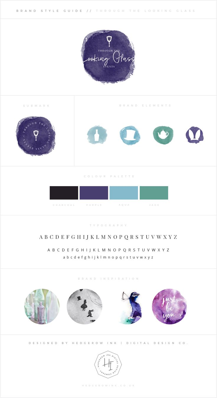Whimsical peacock inspired branding with an Alice in Wonderland theme for the super talented Through the Looking Glass.