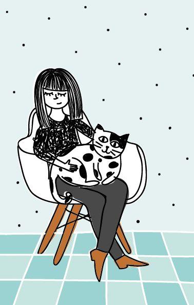 Visitadora de gatos  #gato #cat