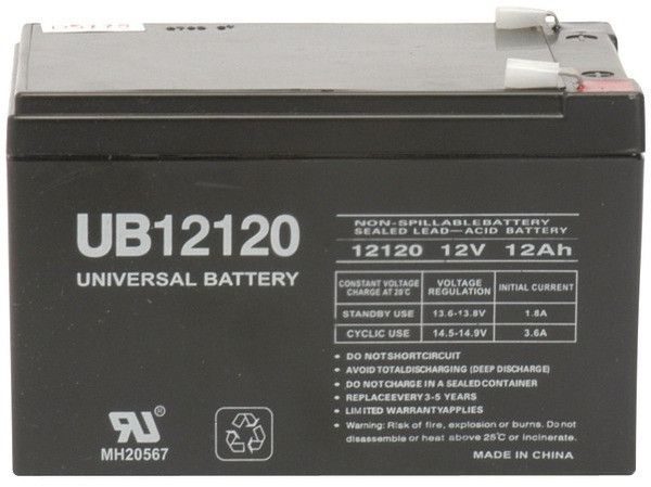 UPG - Sealed Lead Acid Batteries (12V; 12Ah; .250 Tab Terminals; UB12120F2)