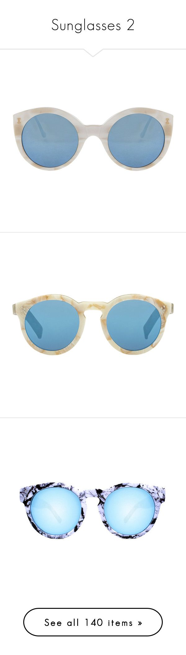 """""""Sunglasses 2"""" by tamara-40 ❤ liked on Polyvore featuring sunglasses, 2016, accessories, eyewear, glasses, clear water, mirror lens sunglasses, mirrored lens sunglasses, blue lens sunglasses and acetate sunglasses"""