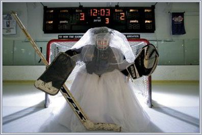 """""""Her Special Day"""" hockey shot"""