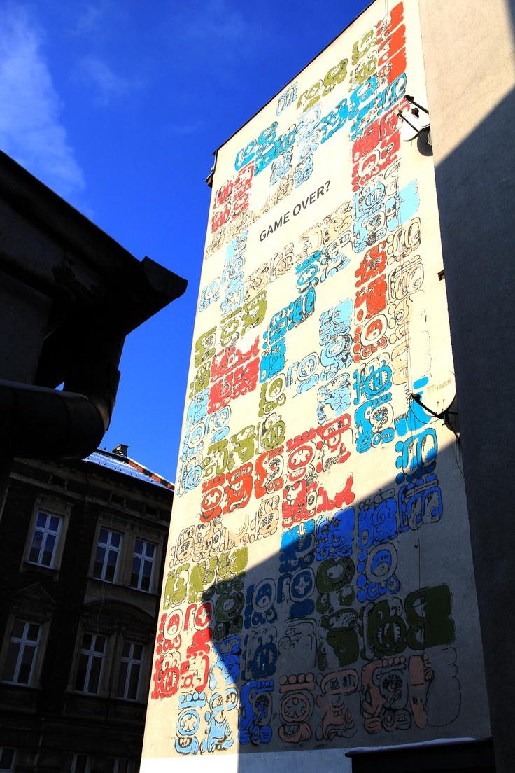 Mayamural, day 5, last. 5/18 Day 5, last. #maya #mural #cracow #2012 #graffiti #streetart Cracow, Poland.