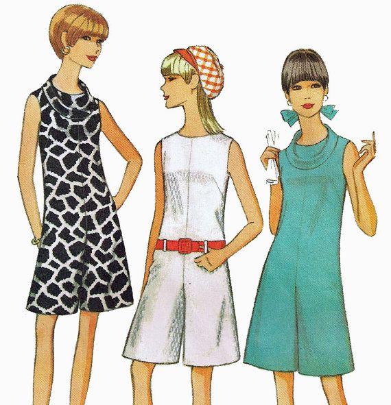 Vintage 1960s Misses Pantdress Sleeveless Dress With Split Skirt Pattern by TheOldLeaf, $5.95. #SummerDresses