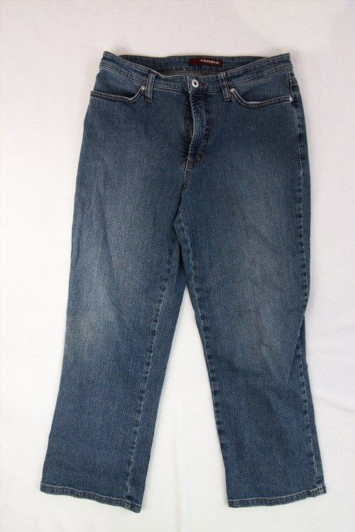 50.30$  Buy here - http://vimnp.justgood.pw/vig/item.php?t=c96xis35816 - Cambio Jeans Sz 10 Capris Cropped Leg Womens Pants Denim Blue LIght Wash Casual
