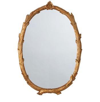 Laurel Regency Antiqued Gold Leaf Branch Flower Oval Mirror #Kathykuohome