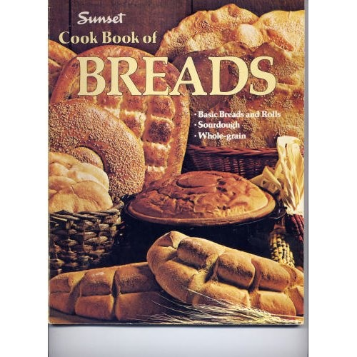 Sunset Cook Book of Breads...This is an older cookbook but you can get it used for next to NOTHING and it is by far, in my opinion, the only book you need for the best homemade breads. So many great recipes in here...brioche, challah, pita, a few different flatbread recipes and all the ones on the cover...oh YUM! The best recipe of all is the Bagel recipe...if you think you love bagels and you've never eaten one that you've baked yourself...well get this book. You have been deprived!