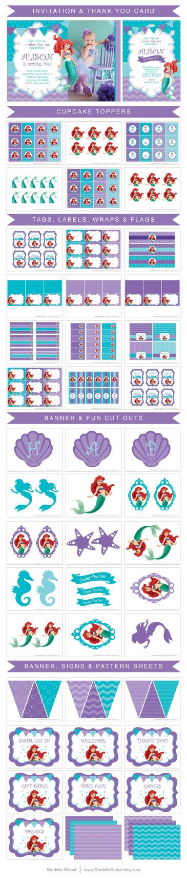 Little Mermaid Invitation Little Mermaid invite por GardellaGlobal