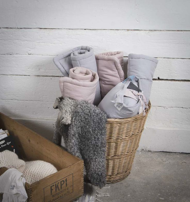 For storage: Roll the mattresses and put them in a nice basket!