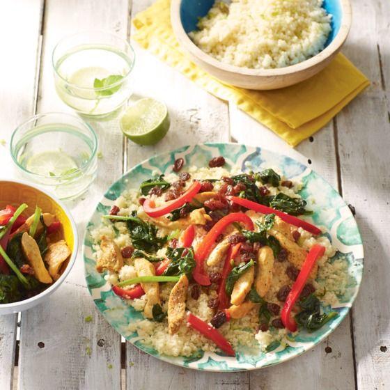 Het recept van de dag is: Frisse limoencouscous met spinazie, paprika en kip!