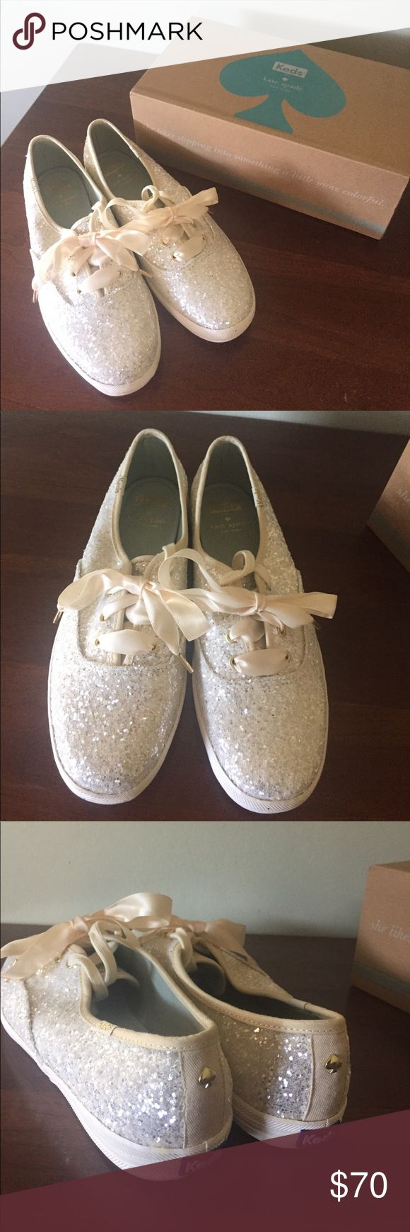 Kate Spade Keds Bought these for my wedding day but didn't end up using them, brand new, sparkly Kate Spade tennis shoes by Keds. kate spade Shoes Sneakers