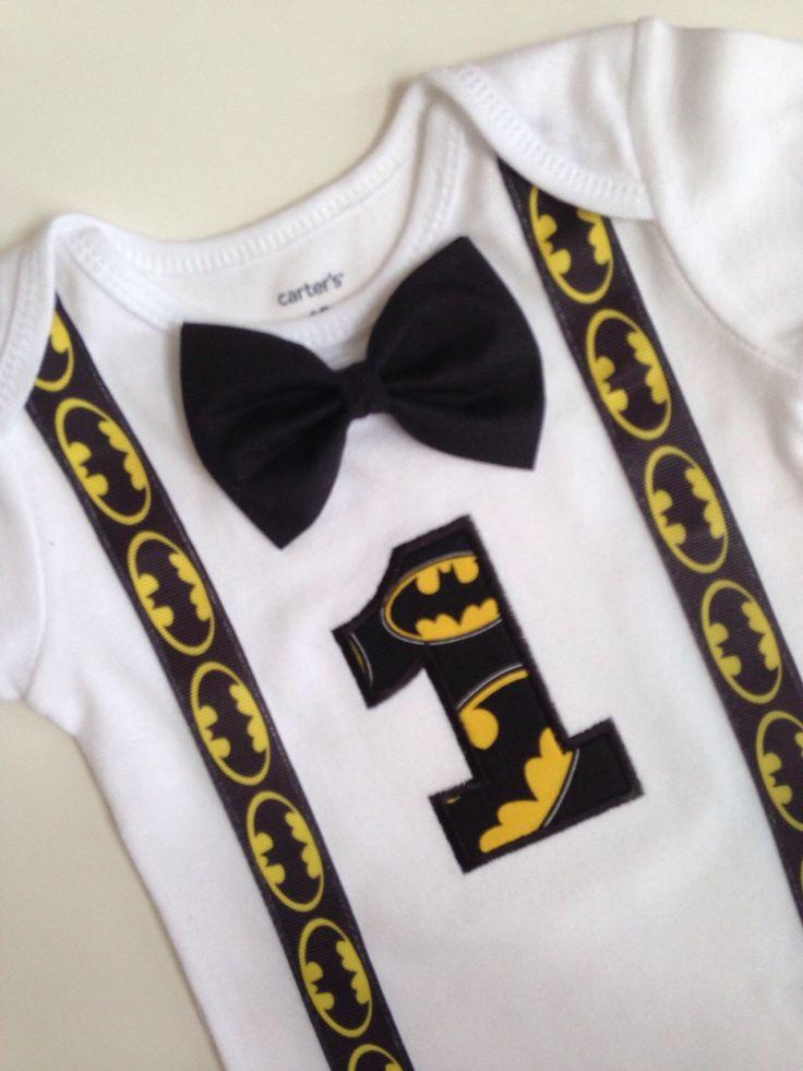 Batman First Birthday Onesie, Batman Onesie, Boys 1st Birthday, Boys Birthday Onesie, Batman Birthday Onesie, by SweetTootsy on Etsy https://www.etsy.com/listing/225156511/batman-first-birthday-onesie-batman