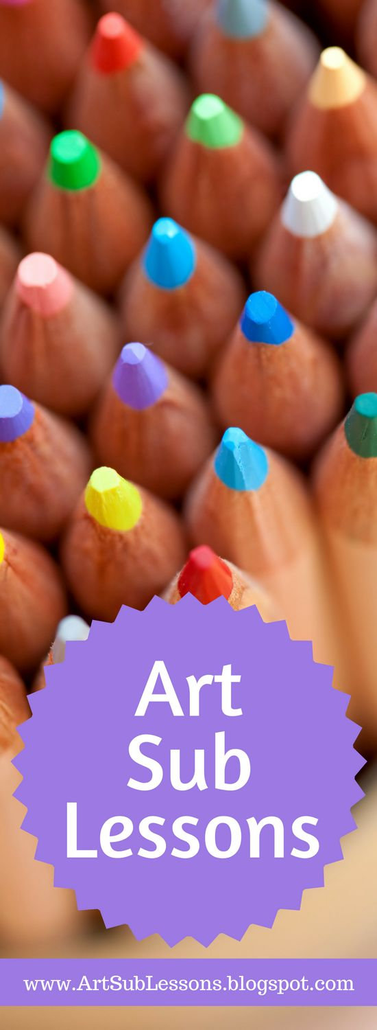 This is a blog with fun, easy art lessons and ideas that any sub or teacher can teach. Find art sub plans that are no prep and low prep. Kindergarten, elementary and middle school lessons.