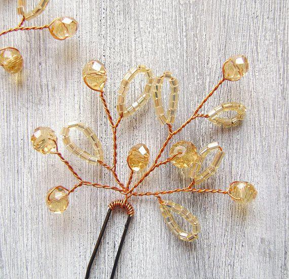 Accesorios para el cabello boda con granos de la por PrettyNatali