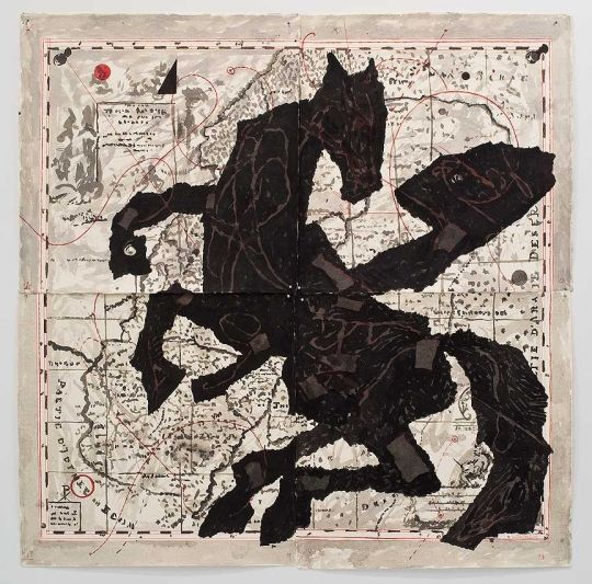 "William Kentridge, ""Nose on Rearing Horse,"" 2007. South African Artists"