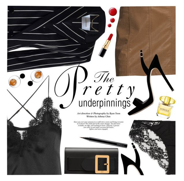 """The Prettiest Underpinnings"" by ivansyd ❤ liked on Polyvore featuring Cami NYC, Free People, Bally, Cynthia Rowley, Zimmermann, Marni, La Perla, Chanel, Versace and Topshop"