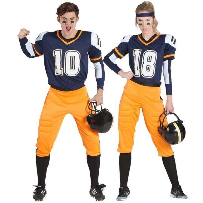 Pareja Fútbol Americano Nfl Pareja Futbol Disfraces Parejas Disfraces Para Adultos