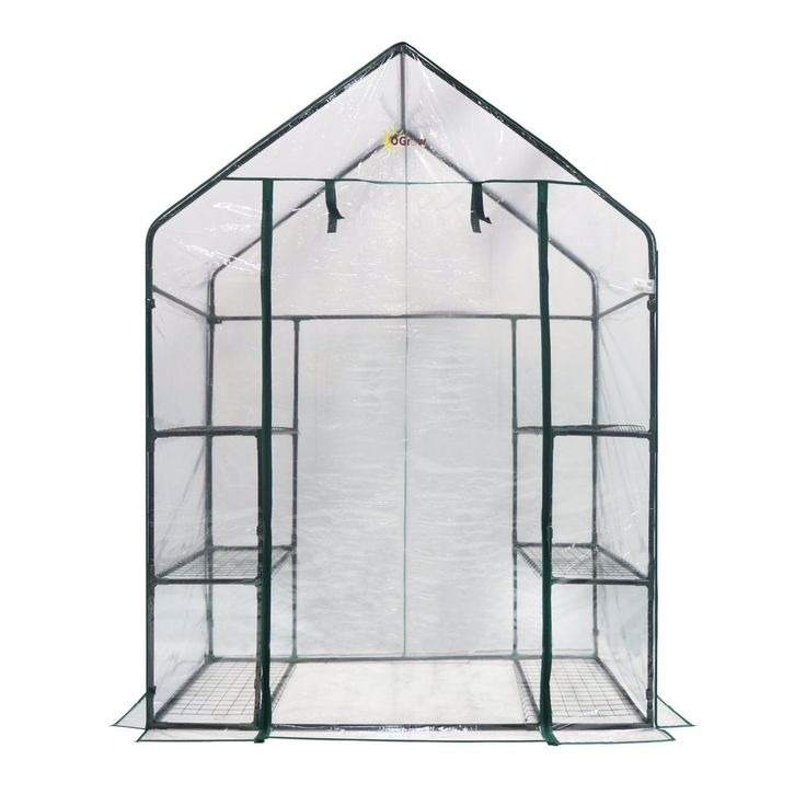 Ogrow Deluxe 6-Shelf Walk-in Portable Greenhouse (Ogrow Deluxe Walk-IN 6 Shelf Portable Greenhouse), Grey (Metal) #OG6834-S