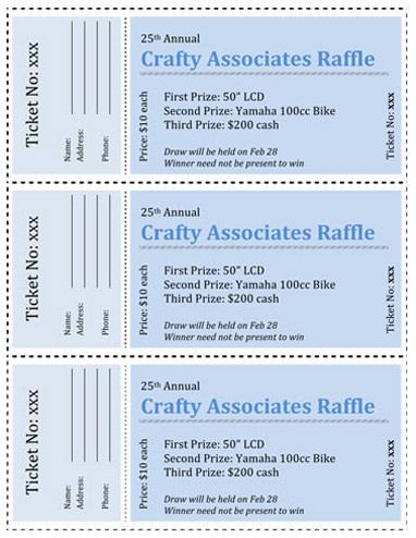 The  Best Free Raffle Ticket Template Ideas On