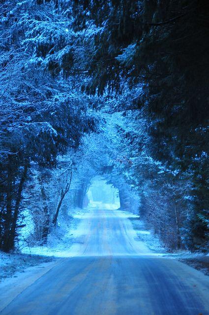 Blue winter light