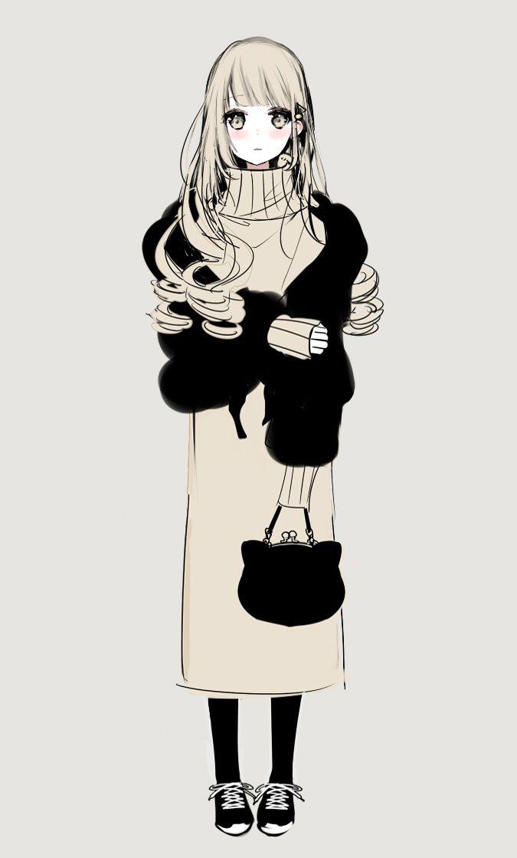 ニットワンピちゃん 芸術的アニメ少女 かわいい 女の子 イラスト 漫画ガール