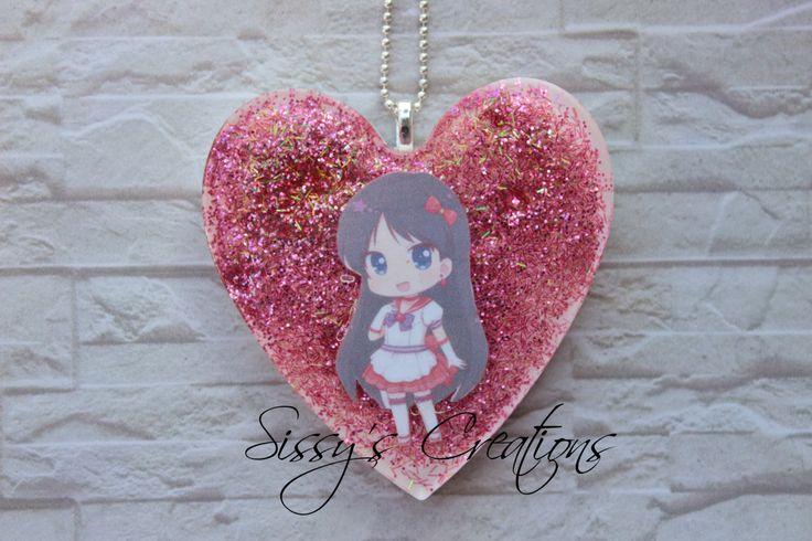 Collana di Sailor Mars in resina - Kawaii di SilviaCreazioniFimo su Etsy