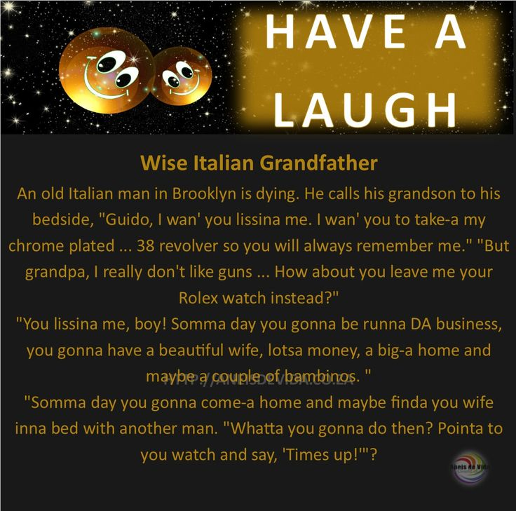 Wise Italian Grandfather  http://aneisdevida.co.za