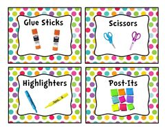 Colorful Stripe Classroom Library Book Basket Label Add-On Pack from Down the Hall in Third on TeachersNotebook.com (8 pages)