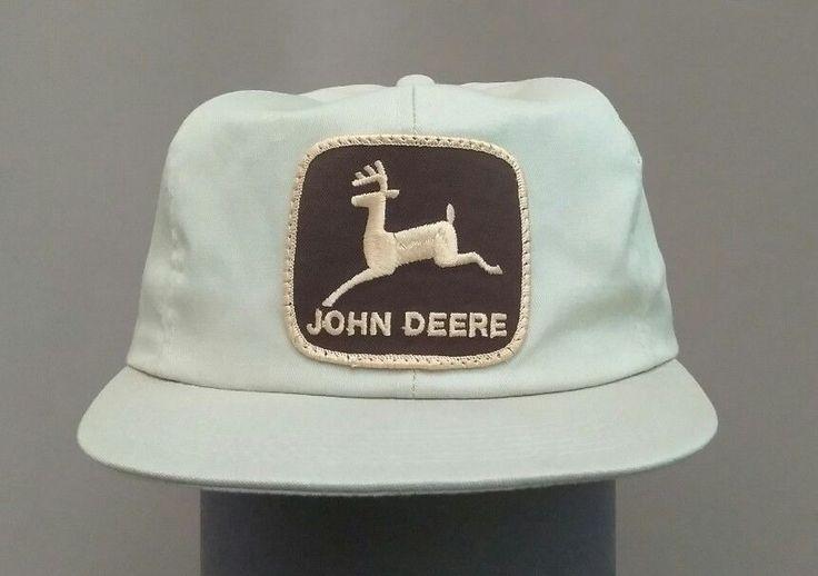 VINTAGE 1970'S JOHN DEERE TRUCKER FARMER SNAP BACK HAT KHAKI   Clothing, Shoes & Accessories, Men's Accessories, Hats   eBay!
