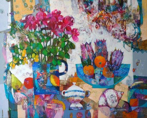 Letnia martwa natura - from http://www.touchofart.eu/Alicja-Slabon-Urbaniak/asla108-Letnia-martwa-natura/
