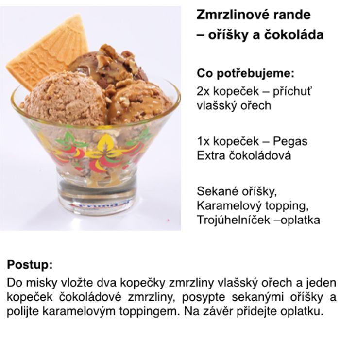 Zmrzlinové rande s oříšky a čokoládou