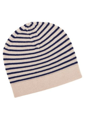 FUB - Beanie Ecru/Navy 100% merino wool