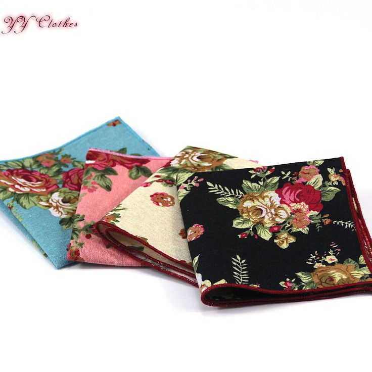 Mens Cotton Pocket Square - Floral Garden by VIDA VIDA New And Fashion UZvIUj2xpc