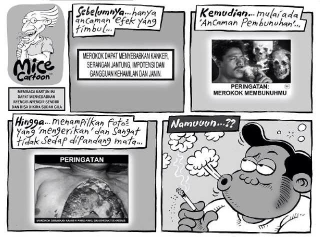 Mice Cartoon, Kompas 24 Agustus 2014: Larangan Merokok...