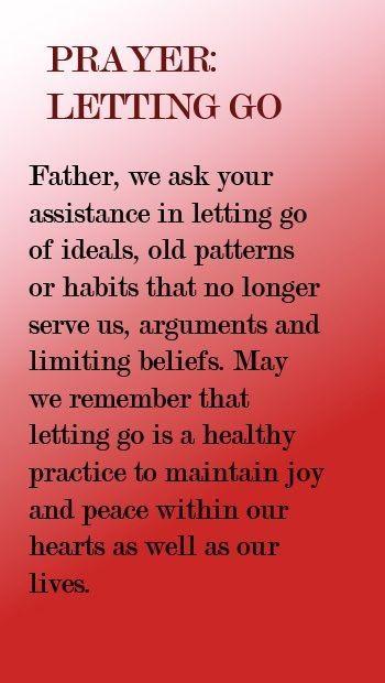 PRAYER: Letting Go.