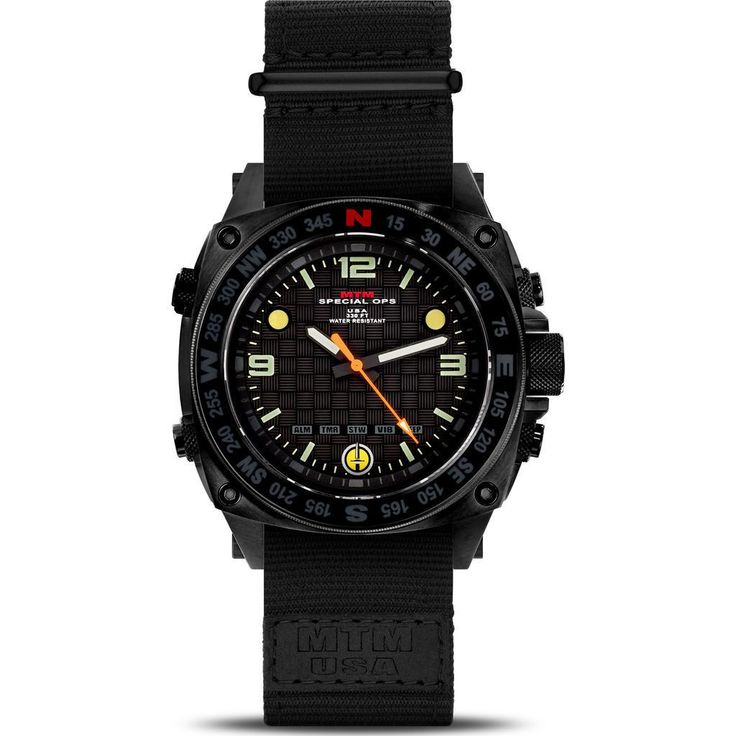 MTM Special Ops Steel Silencer Watch | Black/Black Nylon