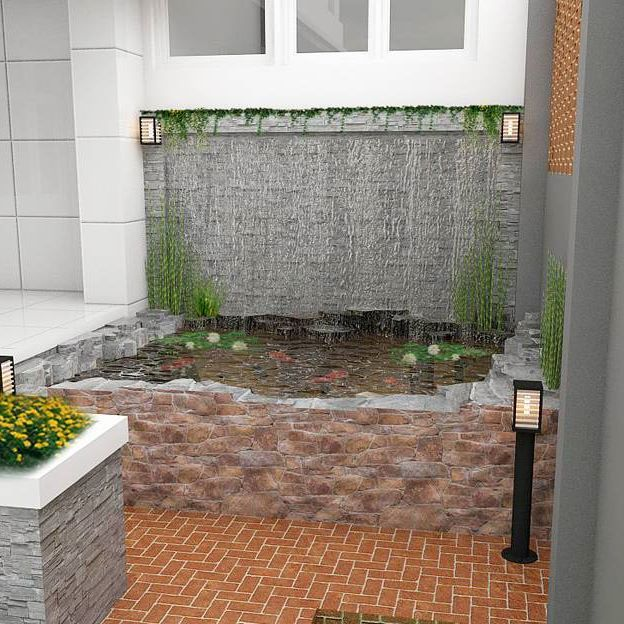 Fish pond in the back yard #fishpond #architecture #archilover #design #house #yard #pond #studio #vip #vipstudio #pontianak #kalimantanbarat #indonesia