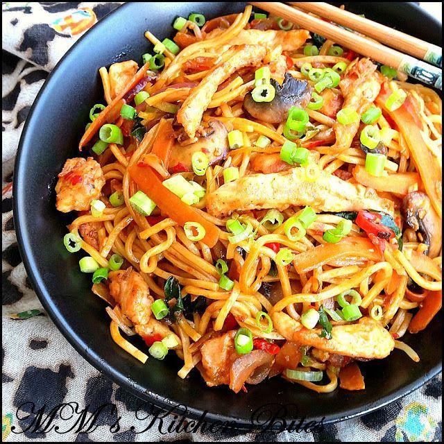 MM's Kitchen Bites Chicken Noodles with Chili Bean Sauce