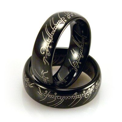 Light Tungsten Domed Black The Lord of The Rings Ring - $14.99. https://www.tanga.com/deals/1ffe3459ae/light-tungsten-domed-black-the-lord-of-the-rings-ring